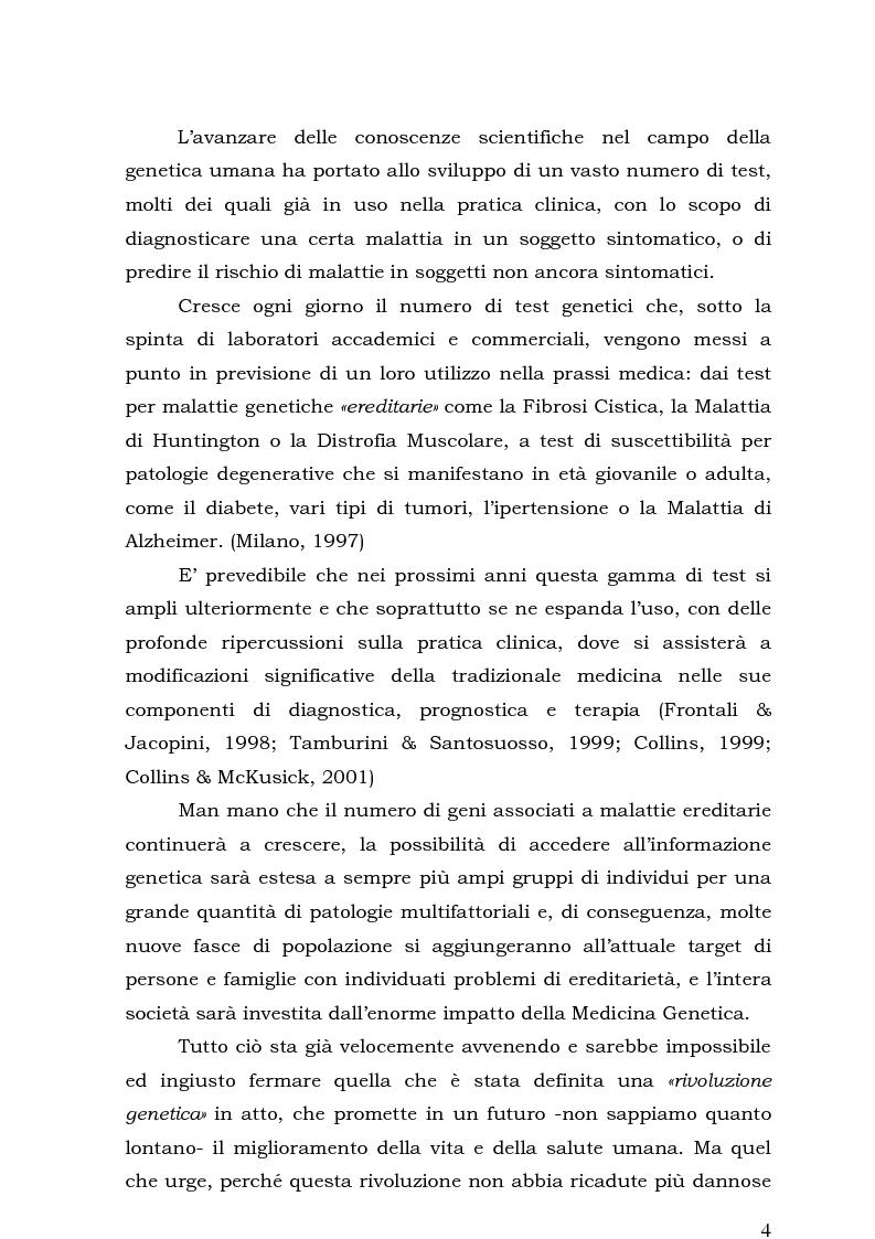 Anteprima della tesi: Psicologia e Medicina Genetica: Promuovere la Salute secondo l'Approccio Centrato sulla Persona, Pagina 2