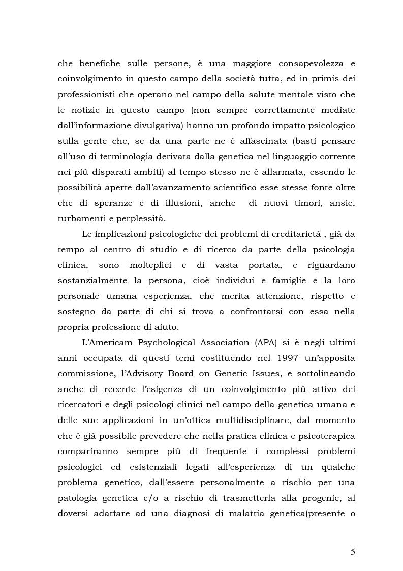 Anteprima della tesi: Psicologia e Medicina Genetica: Promuovere la Salute secondo l'Approccio Centrato sulla Persona, Pagina 3