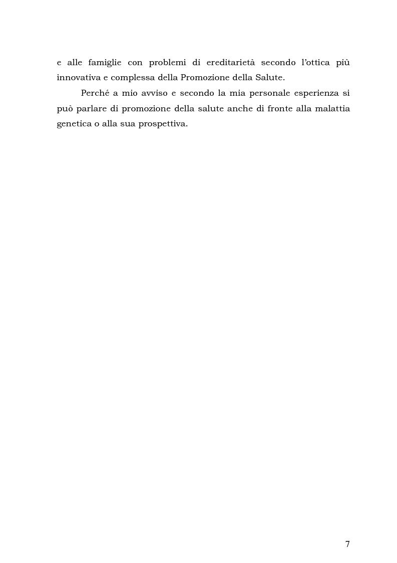 Anteprima della tesi: Psicologia e Medicina Genetica: Promuovere la Salute secondo l'Approccio Centrato sulla Persona, Pagina 5