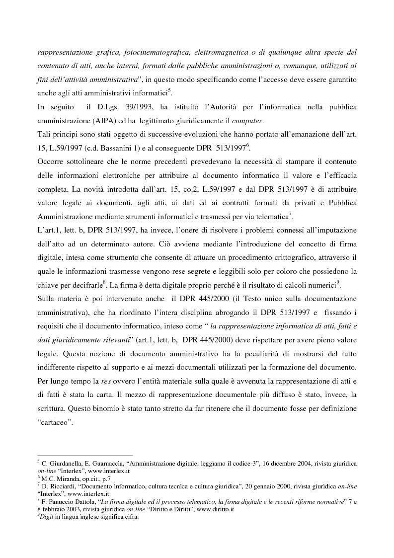 Anteprima della tesi: Il contributo dell'e-government nell'incremento dei servizi resi al cittadino, Pagina 4