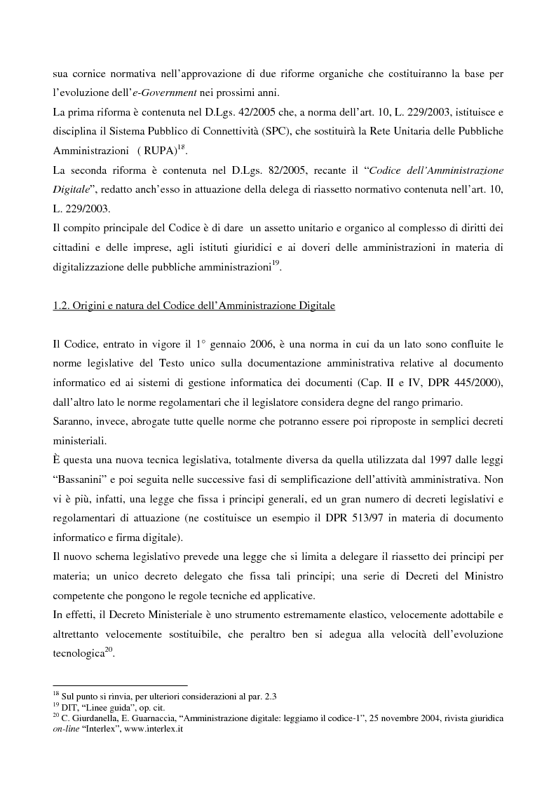 Anteprima della tesi: Il contributo dell'e-government nell'incremento dei servizi resi al cittadino, Pagina 7