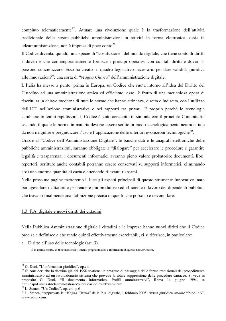 Anteprima della tesi: Il contributo dell'e-government nell'incremento dei servizi resi al cittadino, Pagina 9