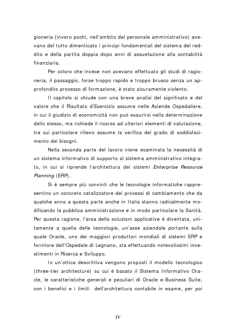Anteprima della tesi: L'introduzione della contabilità economico patrimoniale nelle aziende sanitarie: l'utilizzo di un sistema amministrativo integrato nell'esperienza dell'ospedale di Legnano, Pagina 2