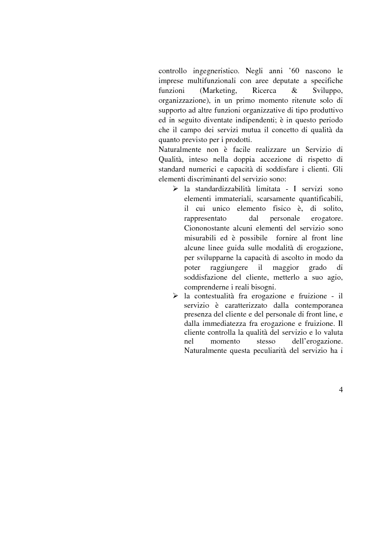 Anteprima della tesi: La Gestione della qualità nella Pubblica Amministrazione - L'esperienza del Comune di Bologna, Pagina 4