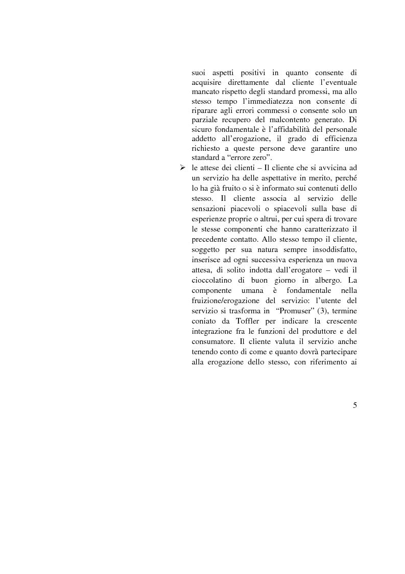 Anteprima della tesi: La Gestione della qualità nella Pubblica Amministrazione - L'esperienza del Comune di Bologna, Pagina 5