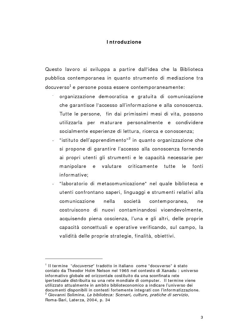 Anteprima della tesi: Biblioteca per gioco: Edutainment per la Biblioteca pubblica, Pagina 1
