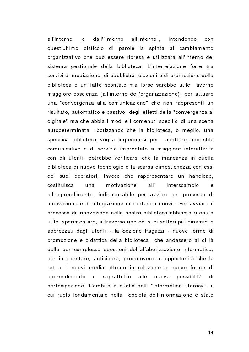 Anteprima della tesi: Biblioteca per gioco: Edutainment per la Biblioteca pubblica, Pagina 12