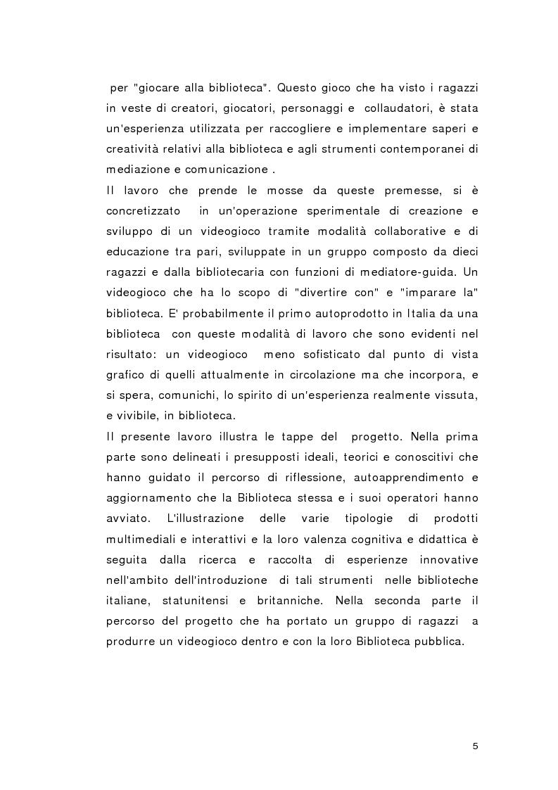 Anteprima della tesi: Biblioteca per gioco: Edutainment per la Biblioteca pubblica, Pagina 3