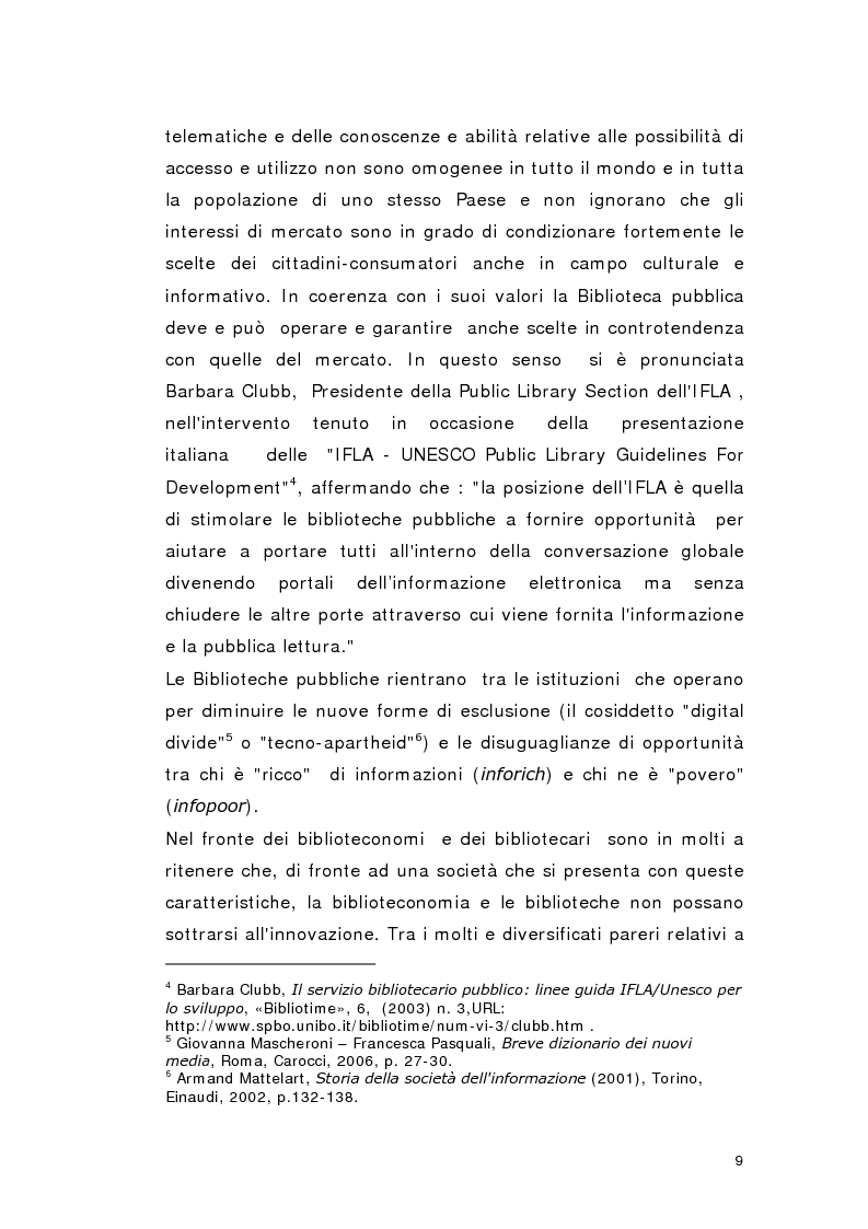 Anteprima della tesi: Biblioteca per gioco: Edutainment per la Biblioteca pubblica, Pagina 7