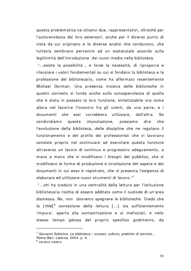 Anteprima della tesi: Biblioteca per gioco: Edutainment per la Biblioteca pubblica, Pagina 8