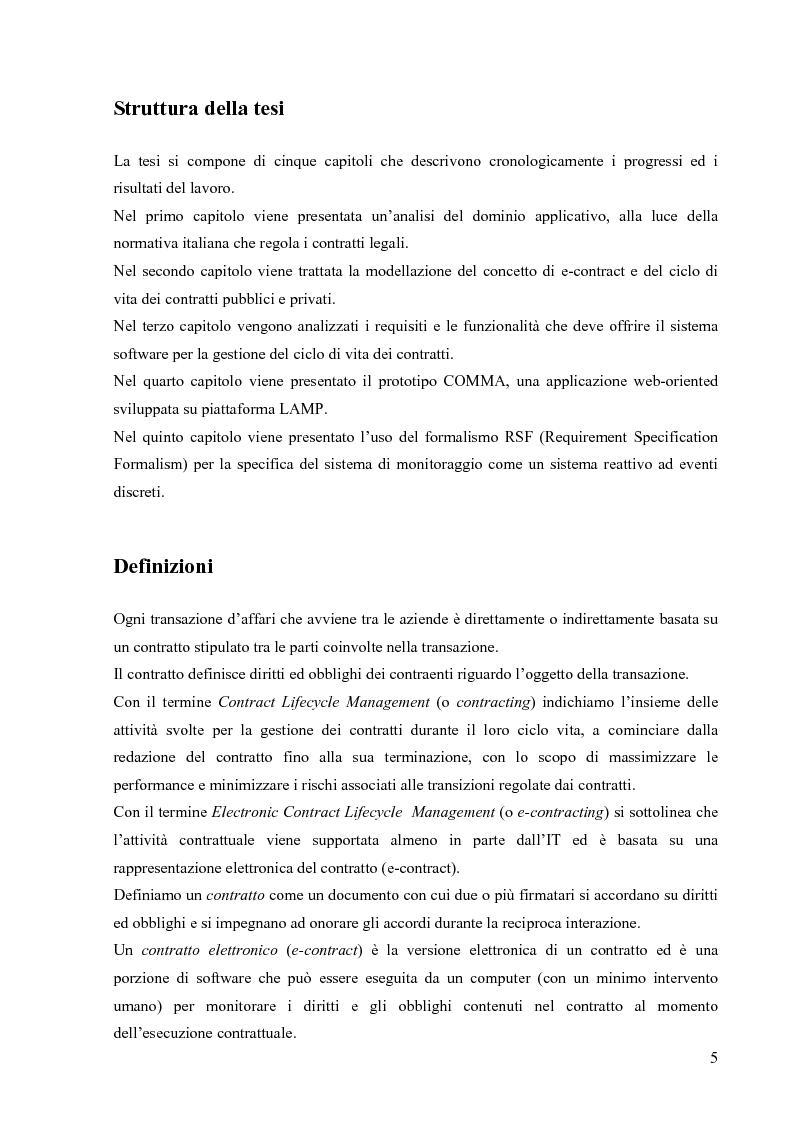 Anteprima della tesi: Un prototipo per la gestione del ciclo di vita dei contratti legali, Pagina 3