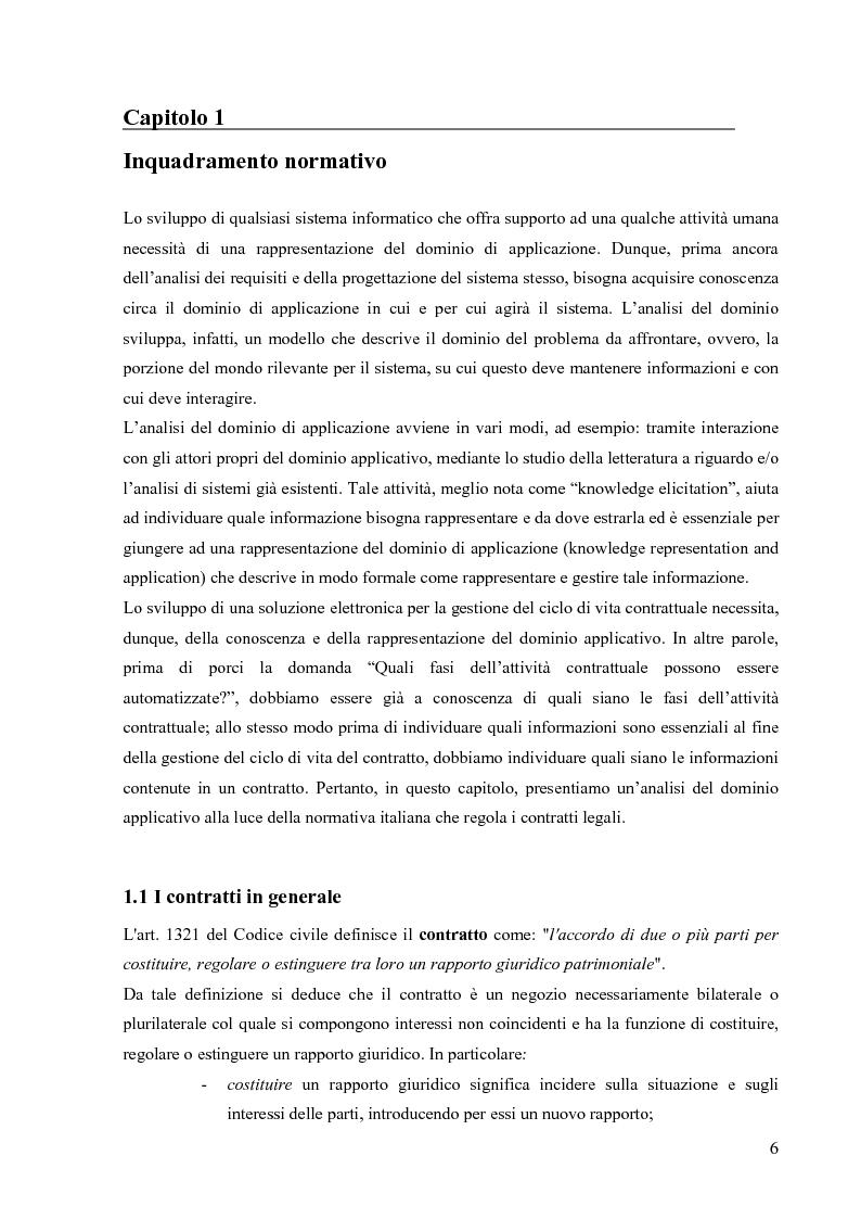 Anteprima della tesi: Un prototipo per la gestione del ciclo di vita dei contratti legali, Pagina 4