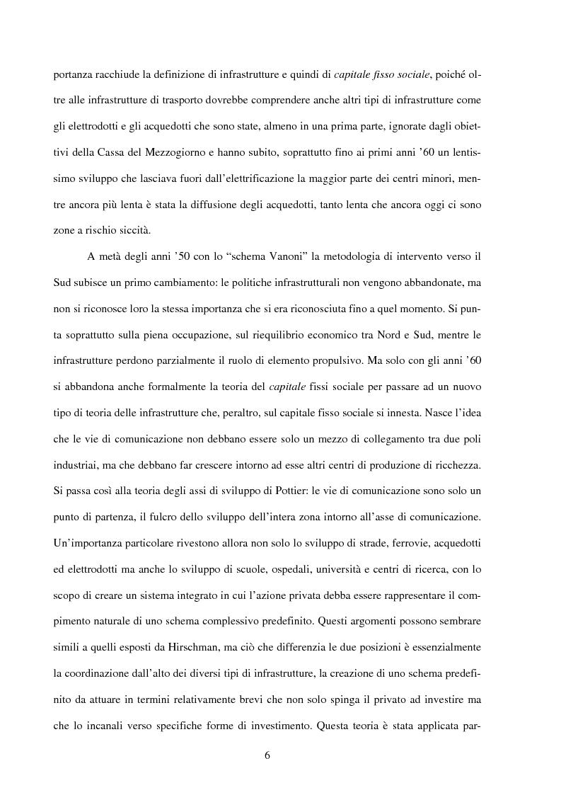 Anteprima della tesi: Politiche infrastrutturali per lo sviluppo economico del Mezzogiorno d'Italia: Teorie ed Effetti, Pagina 3