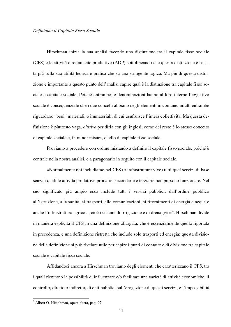 Anteprima della tesi: Politiche infrastrutturali per lo sviluppo economico del Mezzogiorno d'Italia: Teorie ed Effetti, Pagina 8