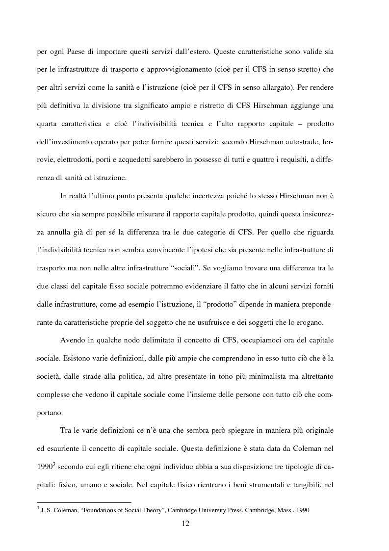 Anteprima della tesi: Politiche infrastrutturali per lo sviluppo economico del Mezzogiorno d'Italia: Teorie ed Effetti, Pagina 9