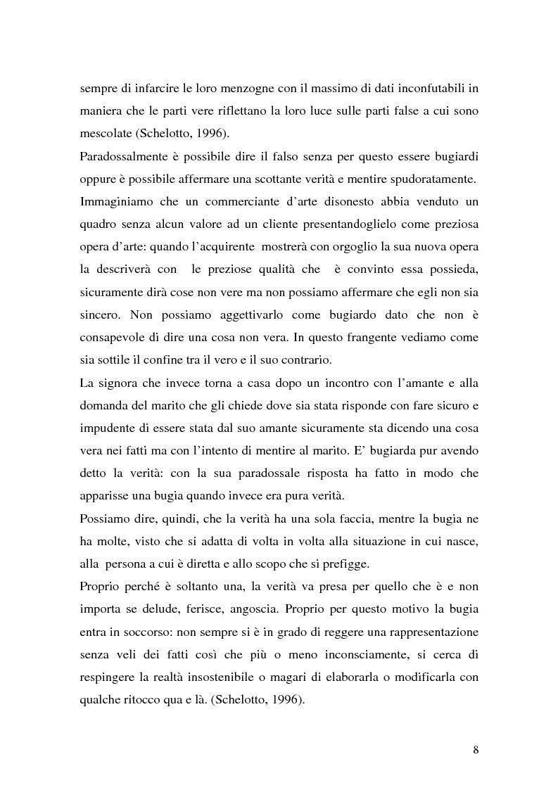 Anteprima della tesi: Vere bugie e false verità, Pagina 5