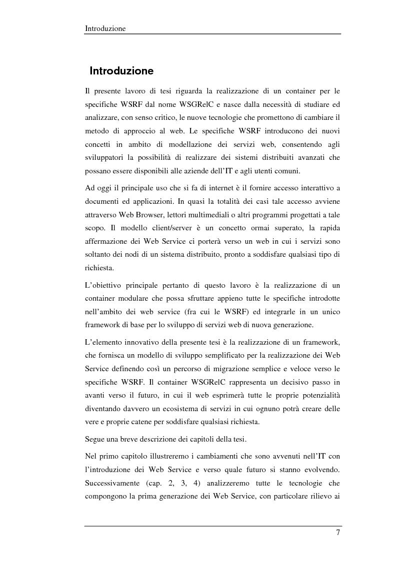 WSGRelC un container wsrf in ambiente di griglia - Tesi di Laurea