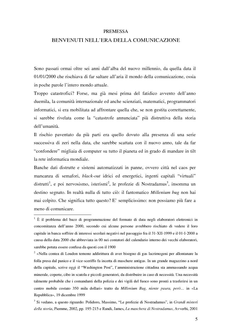 Anteprima della tesi: Evoluzione della comunicazione organizzativa in una Public Utility - il caso Poste Italiane, Pagina 1
