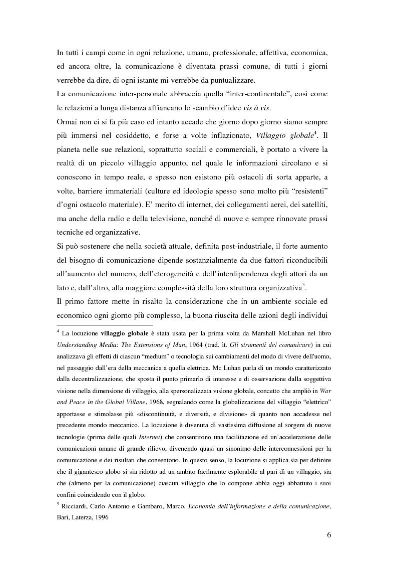 Anteprima della tesi: Evoluzione della comunicazione organizzativa in una Public Utility - il caso Poste Italiane, Pagina 2