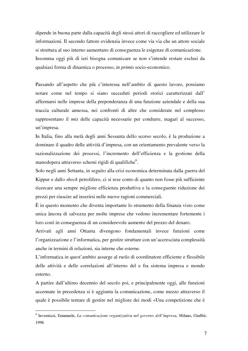 Anteprima della tesi: Evoluzione della comunicazione organizzativa in una Public Utility - il caso Poste Italiane, Pagina 3
