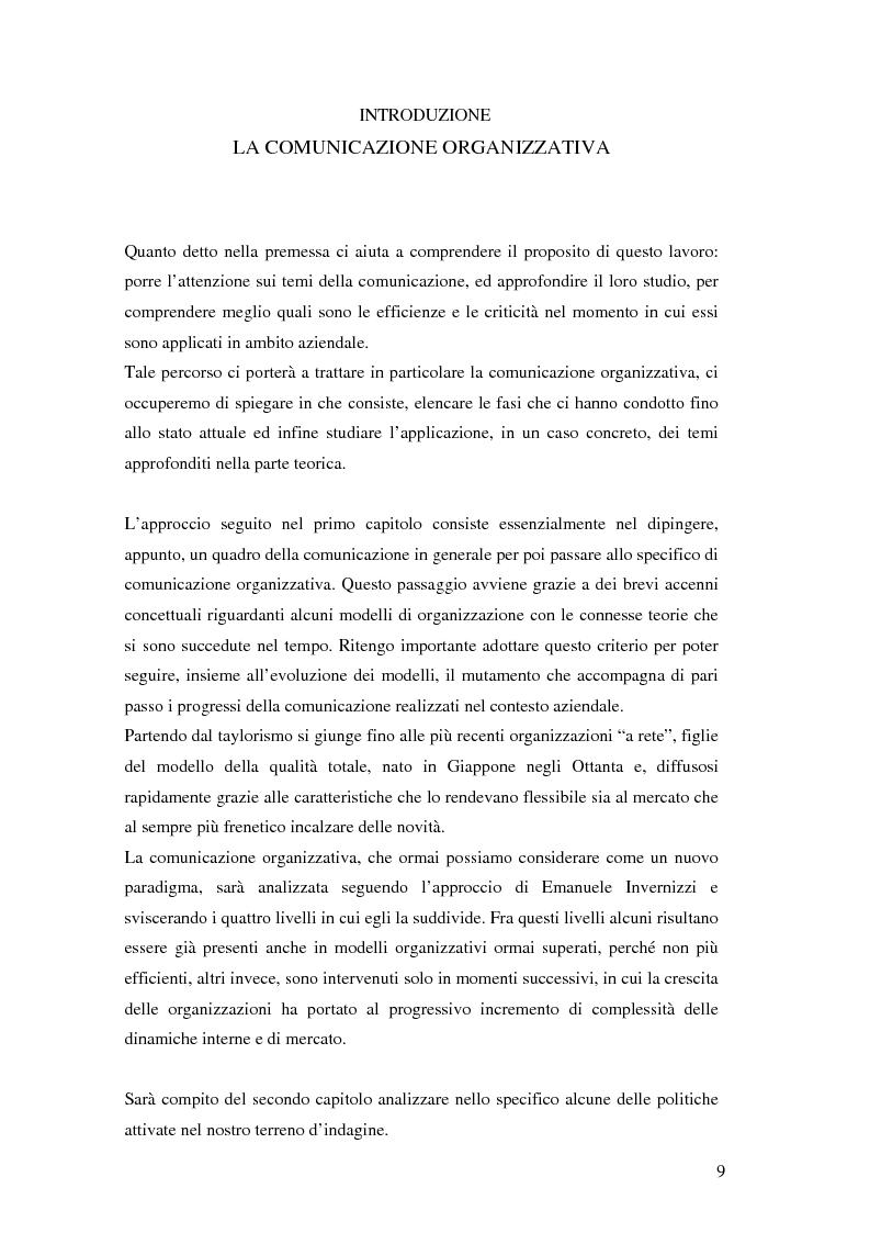 Anteprima della tesi: Evoluzione della comunicazione organizzativa in una Public Utility - il caso Poste Italiane, Pagina 5