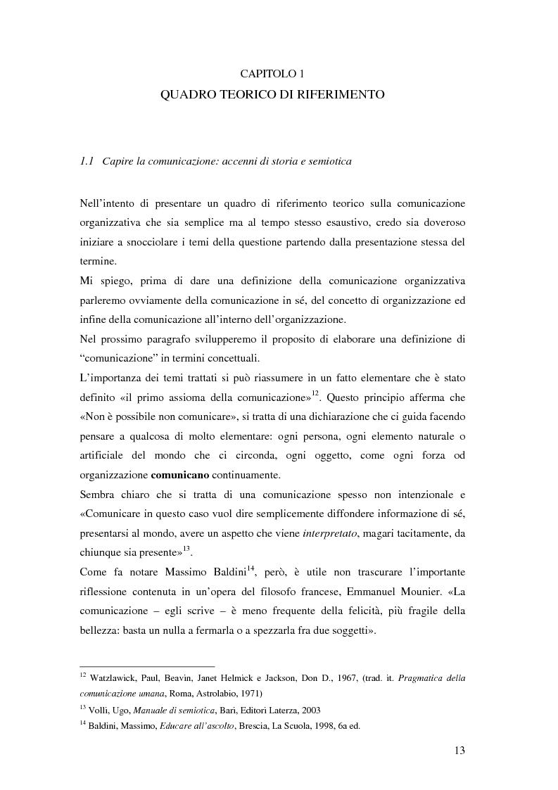 Anteprima della tesi: Evoluzione della comunicazione organizzativa in una Public Utility - il caso Poste Italiane, Pagina 9