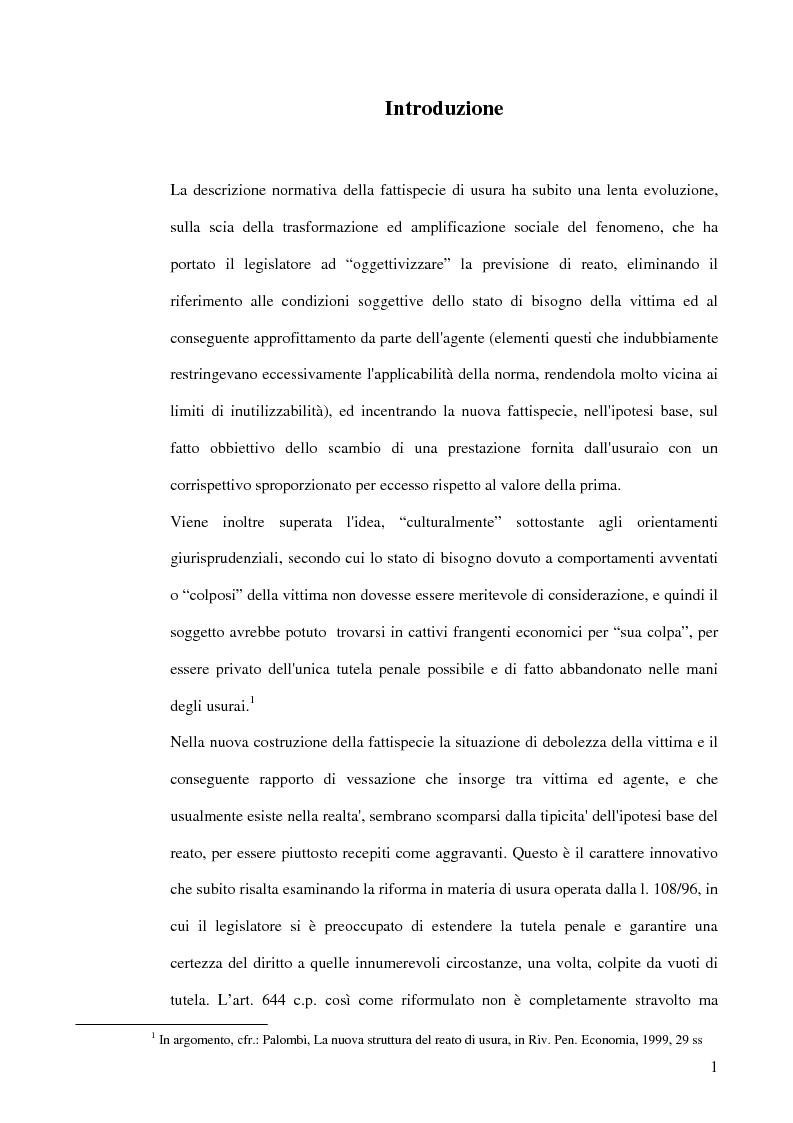 Anteprima della tesi: L'usura, Pagina 1