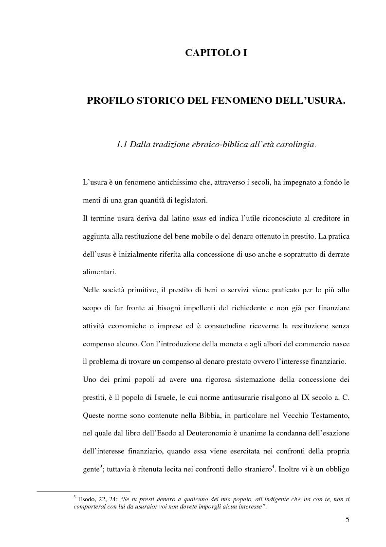Anteprima della tesi: L'usura, Pagina 5