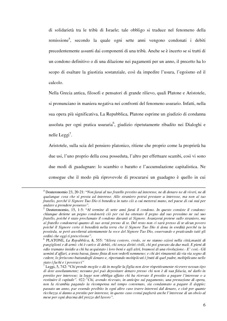 Anteprima della tesi: L'usura, Pagina 6