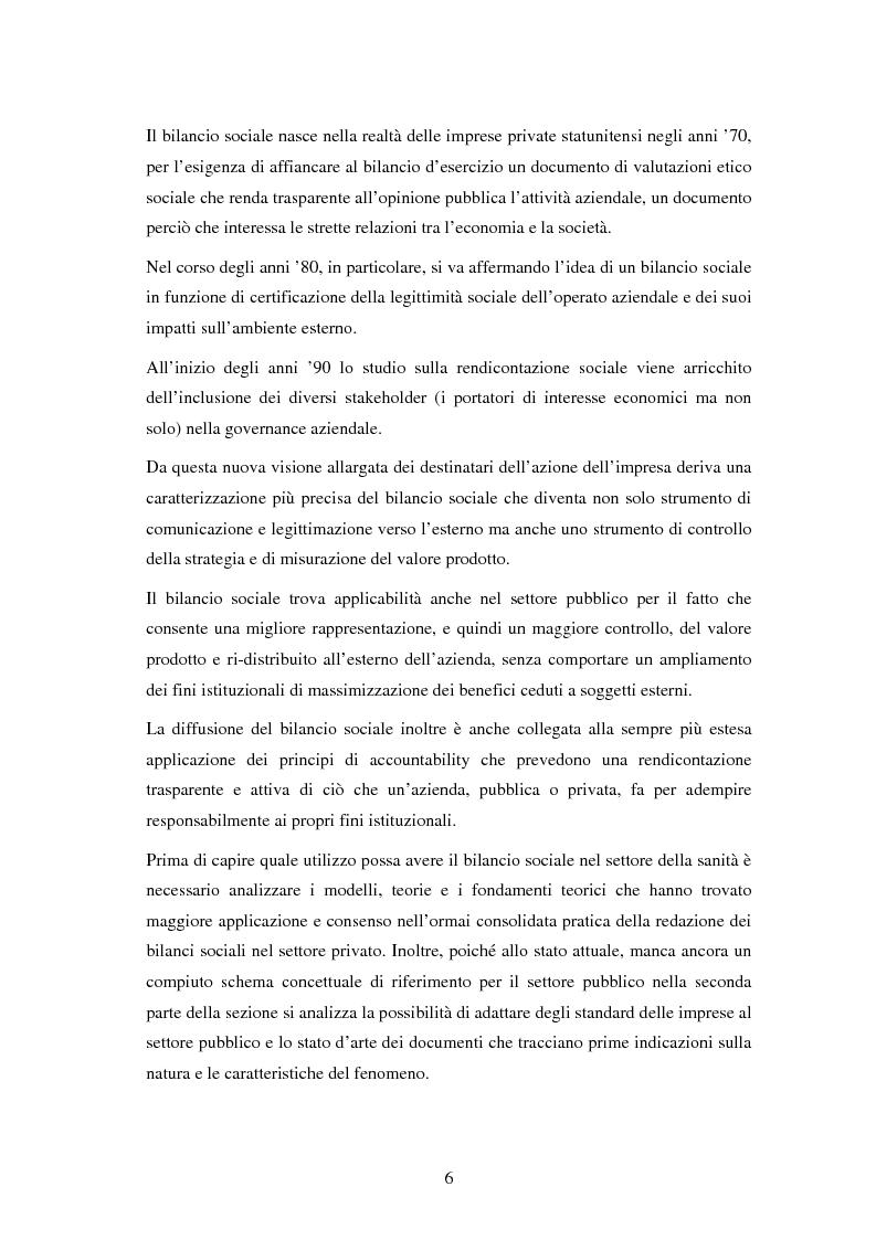 Anteprima della tesi: Il bilancio sociale nelle aziende sanitarie: un modello di referimento, Pagina 2