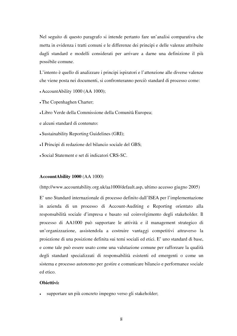 Anteprima della tesi: Il bilancio sociale nelle aziende sanitarie: un modello di referimento, Pagina 4