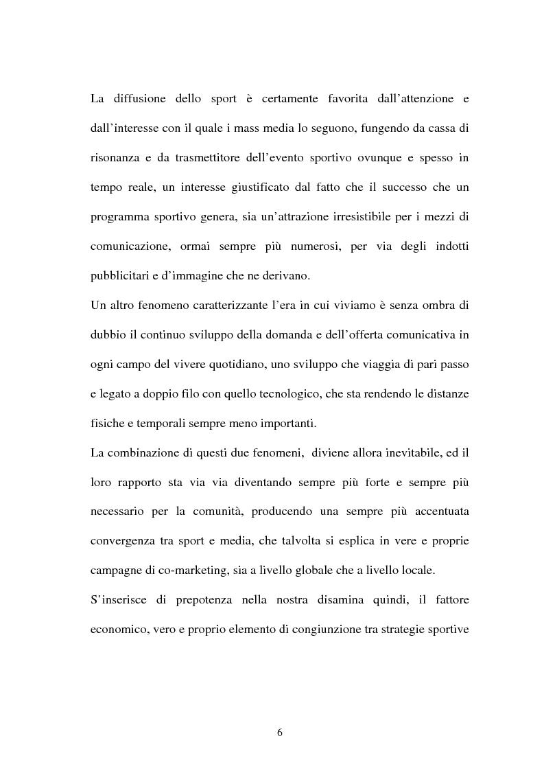 Anteprima della tesi: La gestione dell'area comunicazione e marketing in una moderna società sportiva: il caso S.S. Lazio, Pagina 2