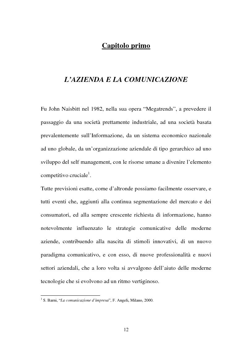 Anteprima della tesi: La gestione dell'area comunicazione e marketing in una moderna società sportiva: il caso S.S. Lazio, Pagina 8