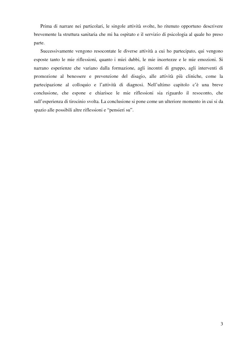 Anteprima della tesi: Resoconto clinico di tiirocinio esperienza nell'ASL di Frosinone, Pagina 2