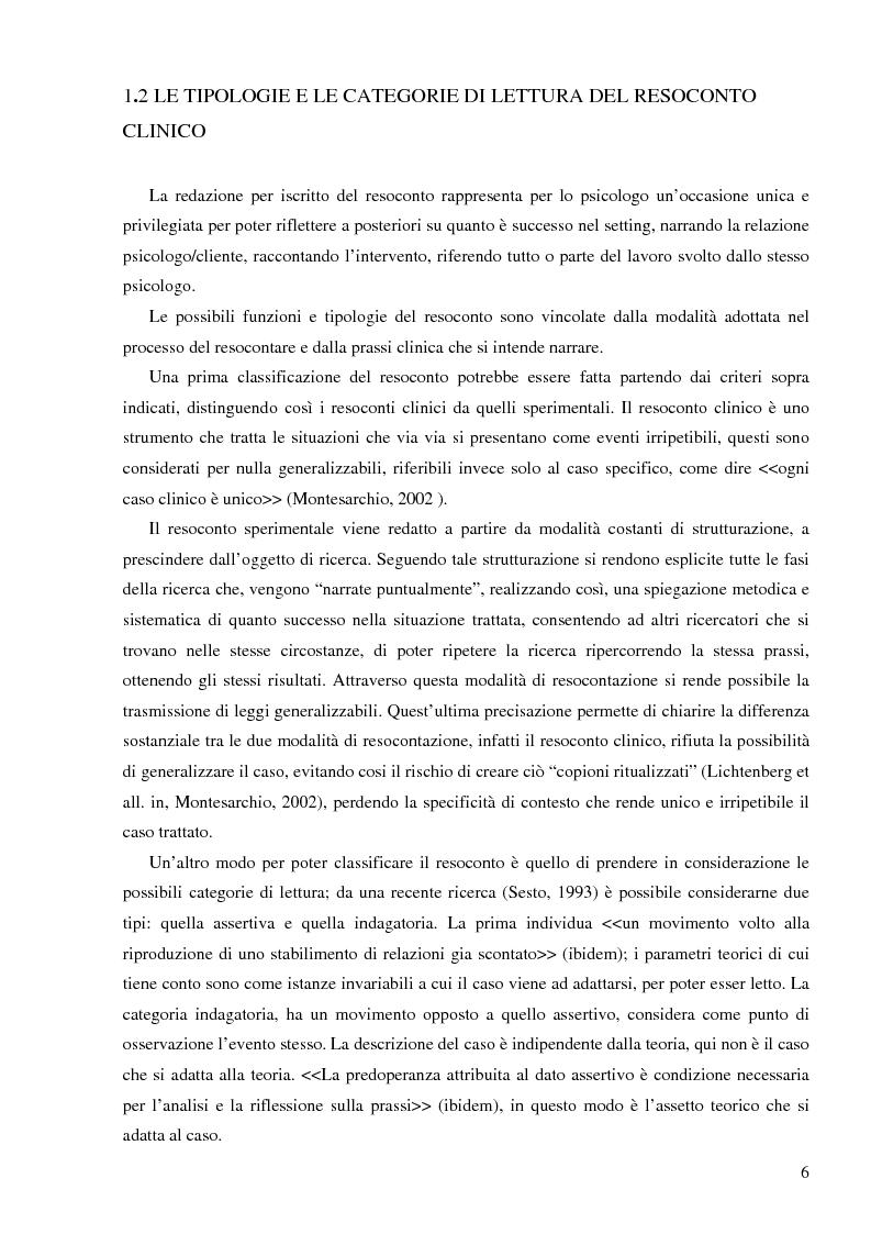 Anteprima della tesi: Resoconto clinico di tiirocinio esperienza nell'ASL di Frosinone, Pagina 5