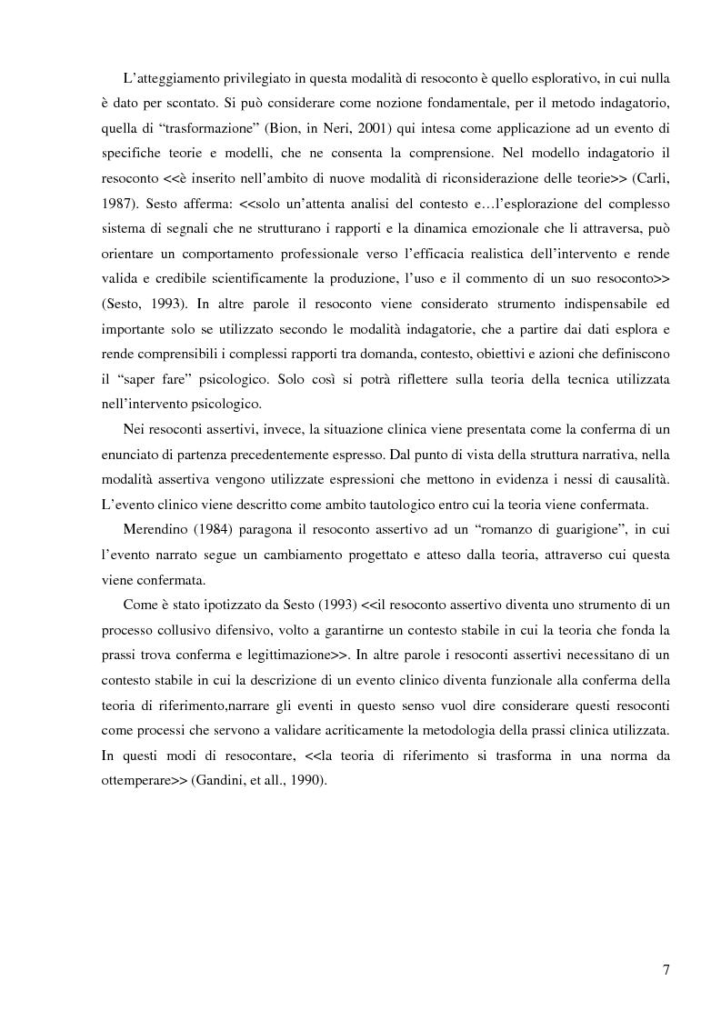 Anteprima della tesi: Resoconto clinico di tiirocinio esperienza nell'ASL di Frosinone, Pagina 6