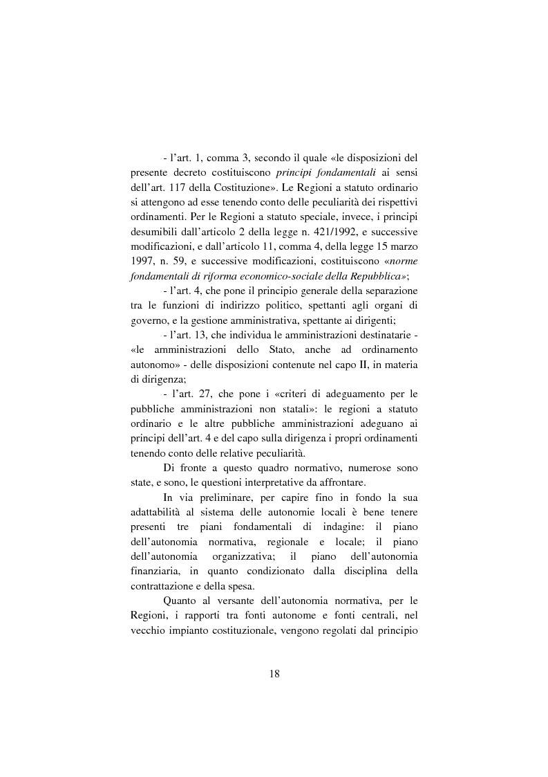 Anteprima della tesi: Il lavoro pubblico locale. Decentramento istituzionale e rapporti ''flessibili''., Pagina 11