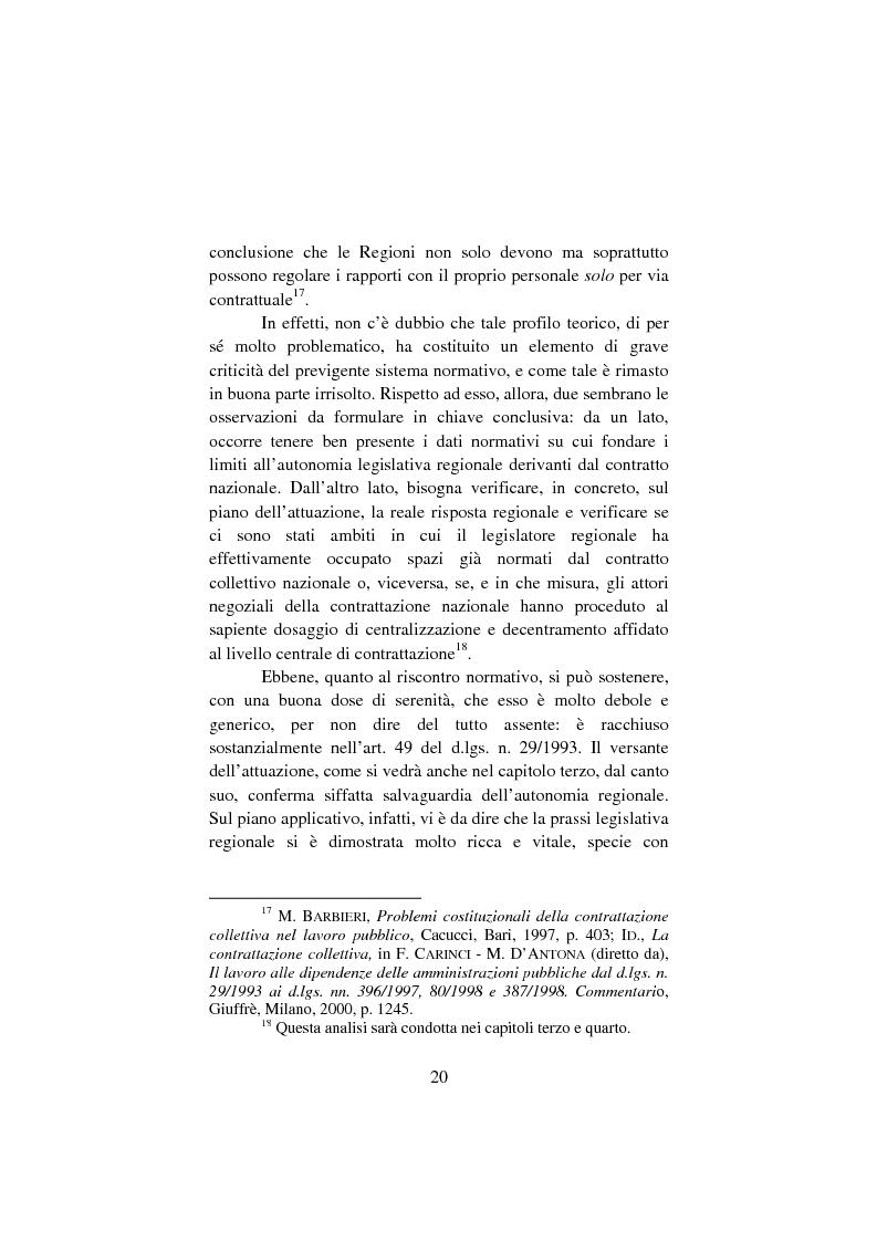 Anteprima della tesi: Il lavoro pubblico locale. Decentramento istituzionale e rapporti ''flessibili''., Pagina 13