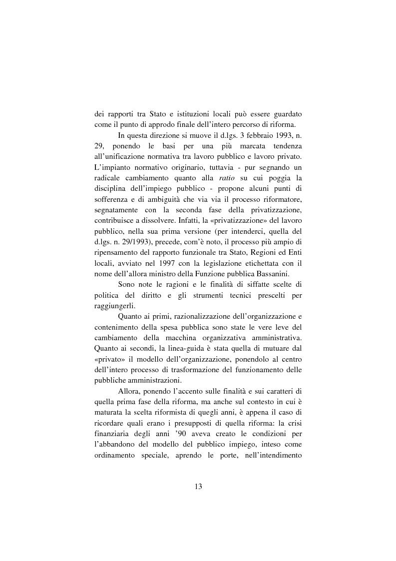 Anteprima della tesi: Il lavoro pubblico locale. Decentramento istituzionale e rapporti ''flessibili''., Pagina 6