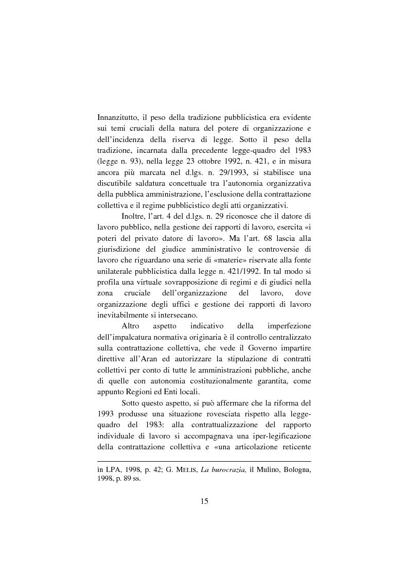Anteprima della tesi: Il lavoro pubblico locale. Decentramento istituzionale e rapporti ''flessibili''., Pagina 8