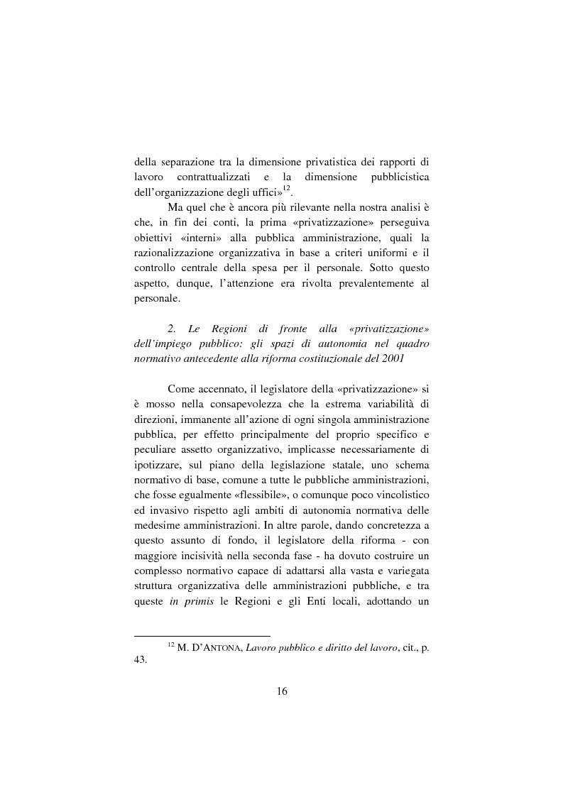 Anteprima della tesi: Il lavoro pubblico locale. Decentramento istituzionale e rapporti ''flessibili''., Pagina 9