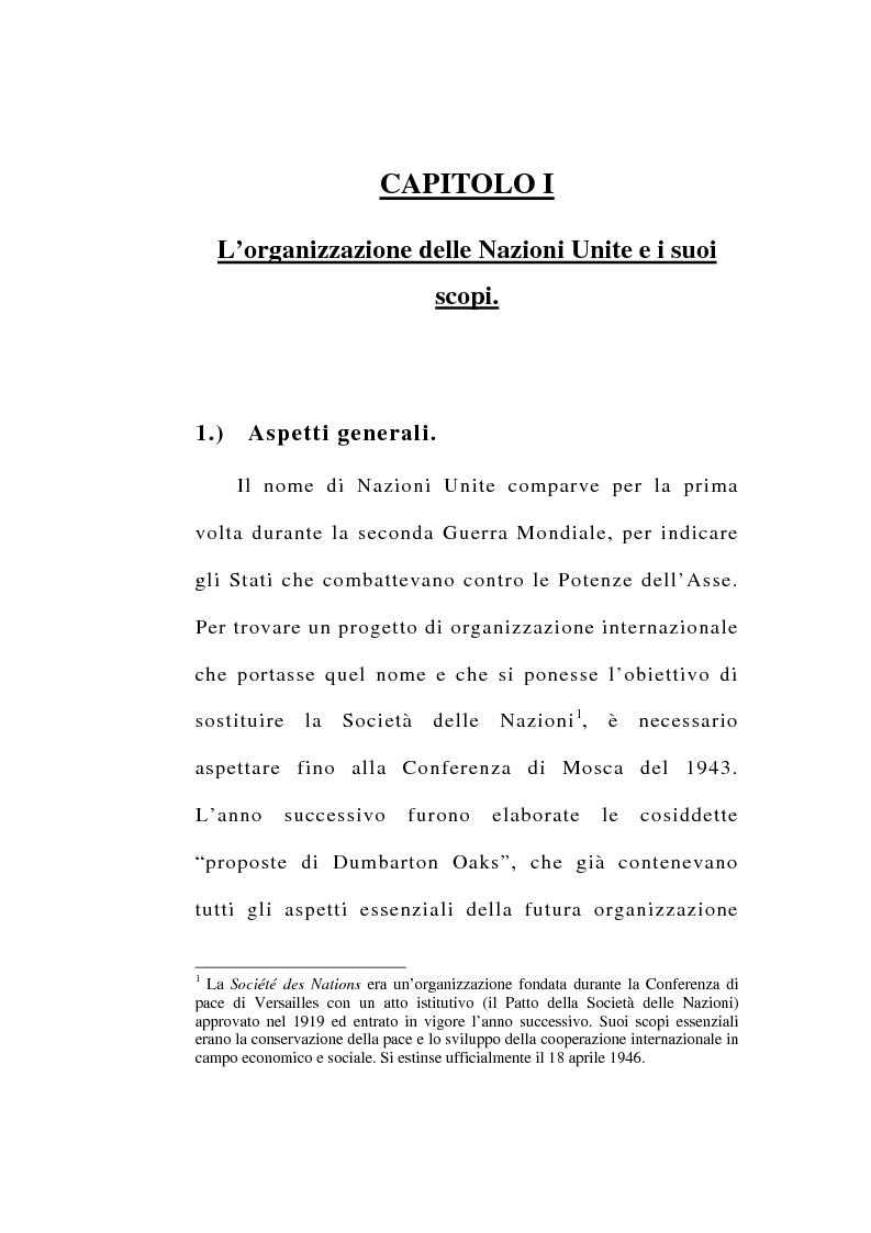 Anteprima della tesi: Il consenso dello Stato e le operazioni di pace delle Nazioni Unite, Pagina 1