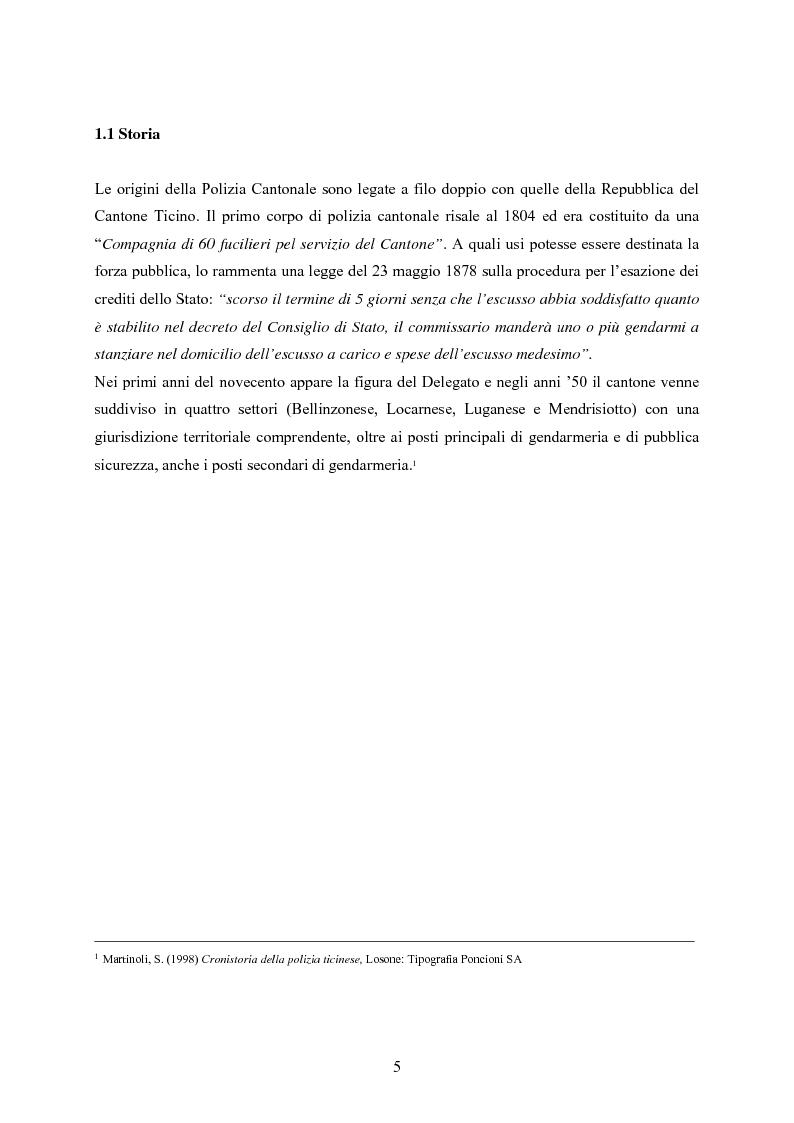 Anteprima della tesi: Polizia cantonale ticinese: organizzazione e prospettive di sviluppo nel processo di cambiamento e miglioramento., Pagina 2