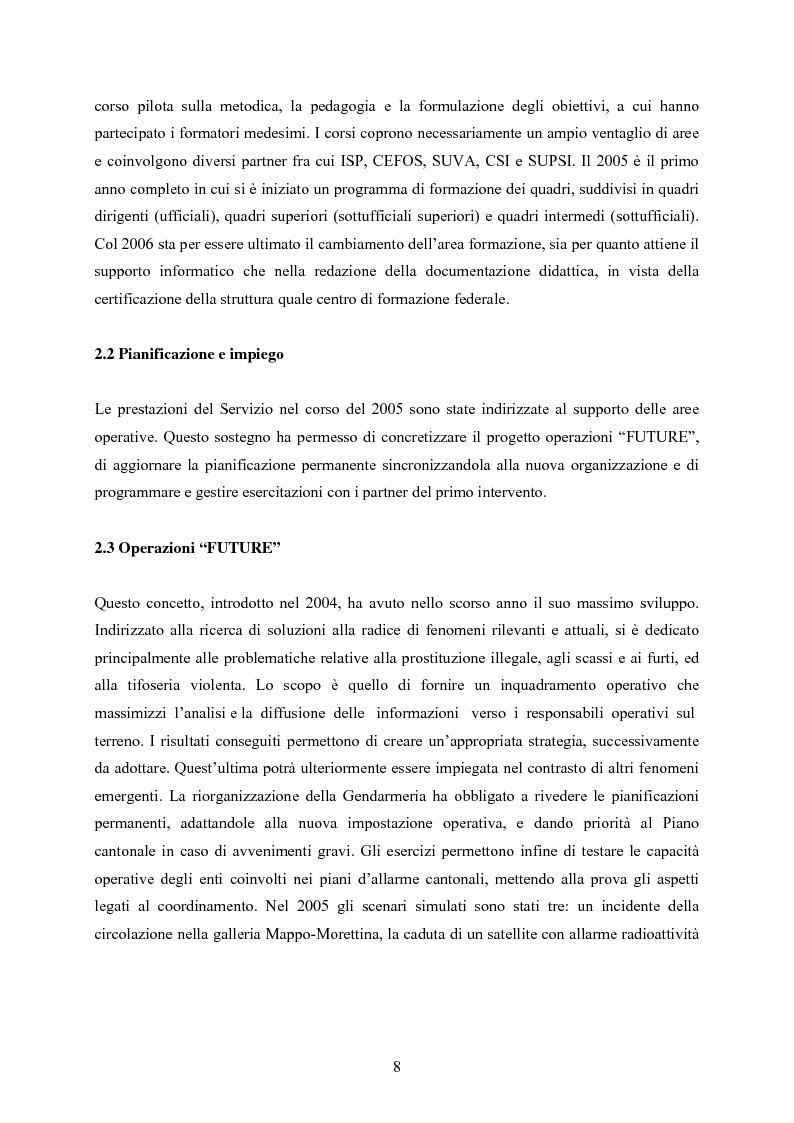 Anteprima della tesi: Polizia cantonale ticinese: organizzazione e prospettive di sviluppo nel processo di cambiamento e miglioramento., Pagina 5