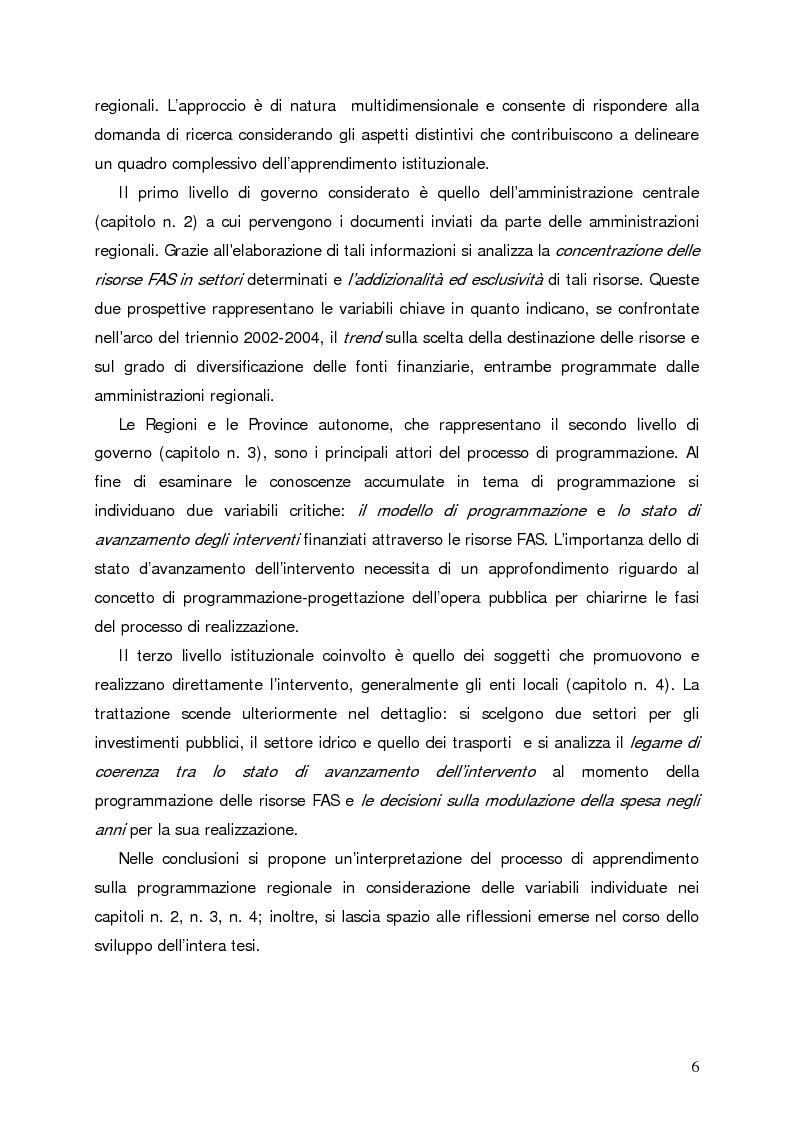 Anteprima della tesi: Accumulo di conoscenze nella programmazione regionale degli investimenti pubblici, Pagina 3
