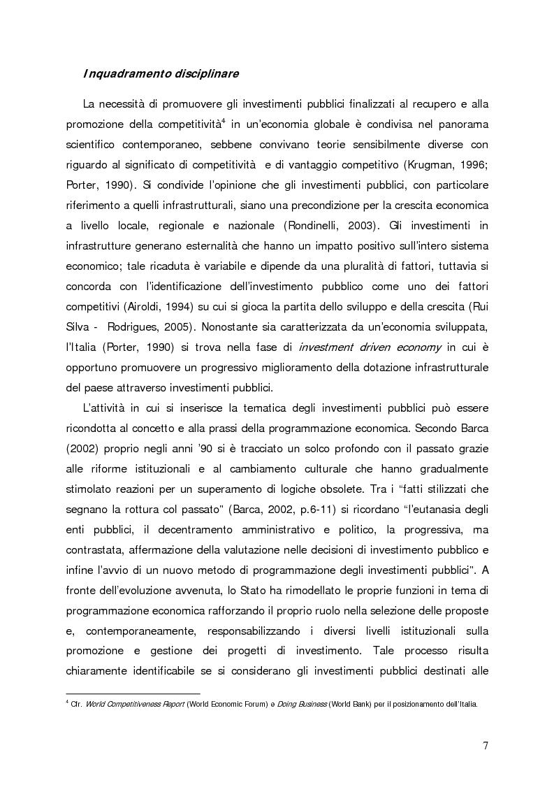 Anteprima della tesi: Accumulo di conoscenze nella programmazione regionale degli investimenti pubblici, Pagina 4