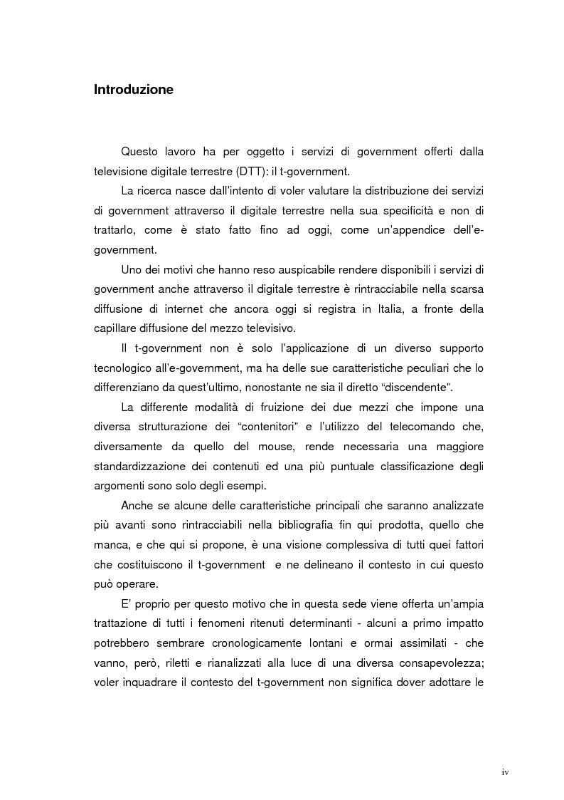 Anteprima della tesi: L'accessibilità al t-government. Tra principi democratici, architettura infrastrutturale e morfologia del territorio, Pagina 1