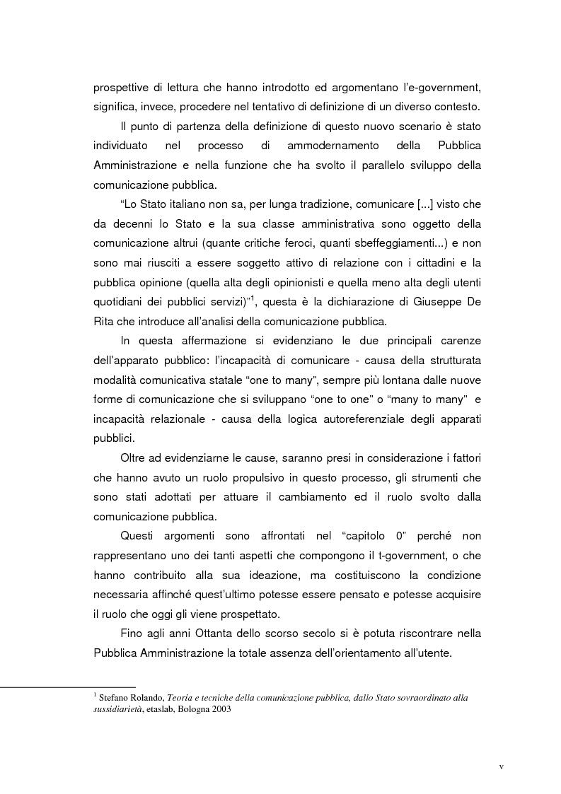Anteprima della tesi: L'accessibilità al t-government. Tra principi democratici, architettura infrastrutturale e morfologia del territorio, Pagina 2