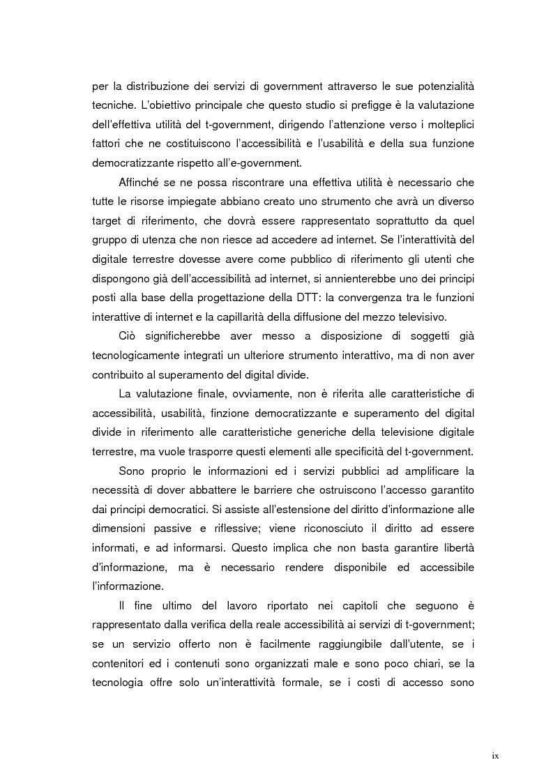 Anteprima della tesi: L'accessibilità al t-government. Tra principi democratici, architettura infrastrutturale e morfologia del territorio, Pagina 6