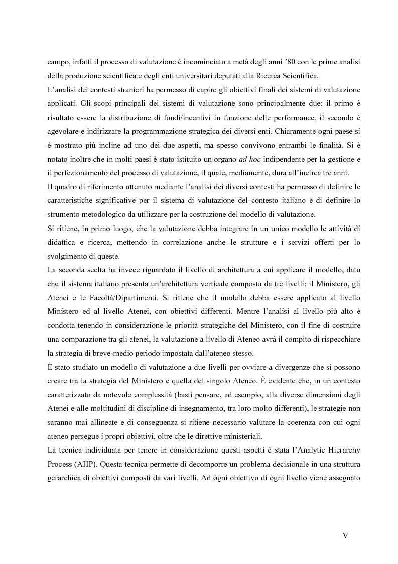 Anteprima della tesi: La valutazione del sistema universitario: un modello di analisi, Pagina 2